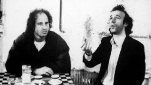 Title: COFFEE AND CIGARETTES ¥ Pers: WRIGHT, STEVEN  /  BENIGNI, ROBERTO ¥ Year: 2003 ¥ Dir: JARMUSCH, JIM ¥ Ref: CAC008AG ¥ Credit: [ SMOKESCREEN/UNITED ARTISTS / THE KOBAL COLLECTION / JARMUSCH, JIM ]